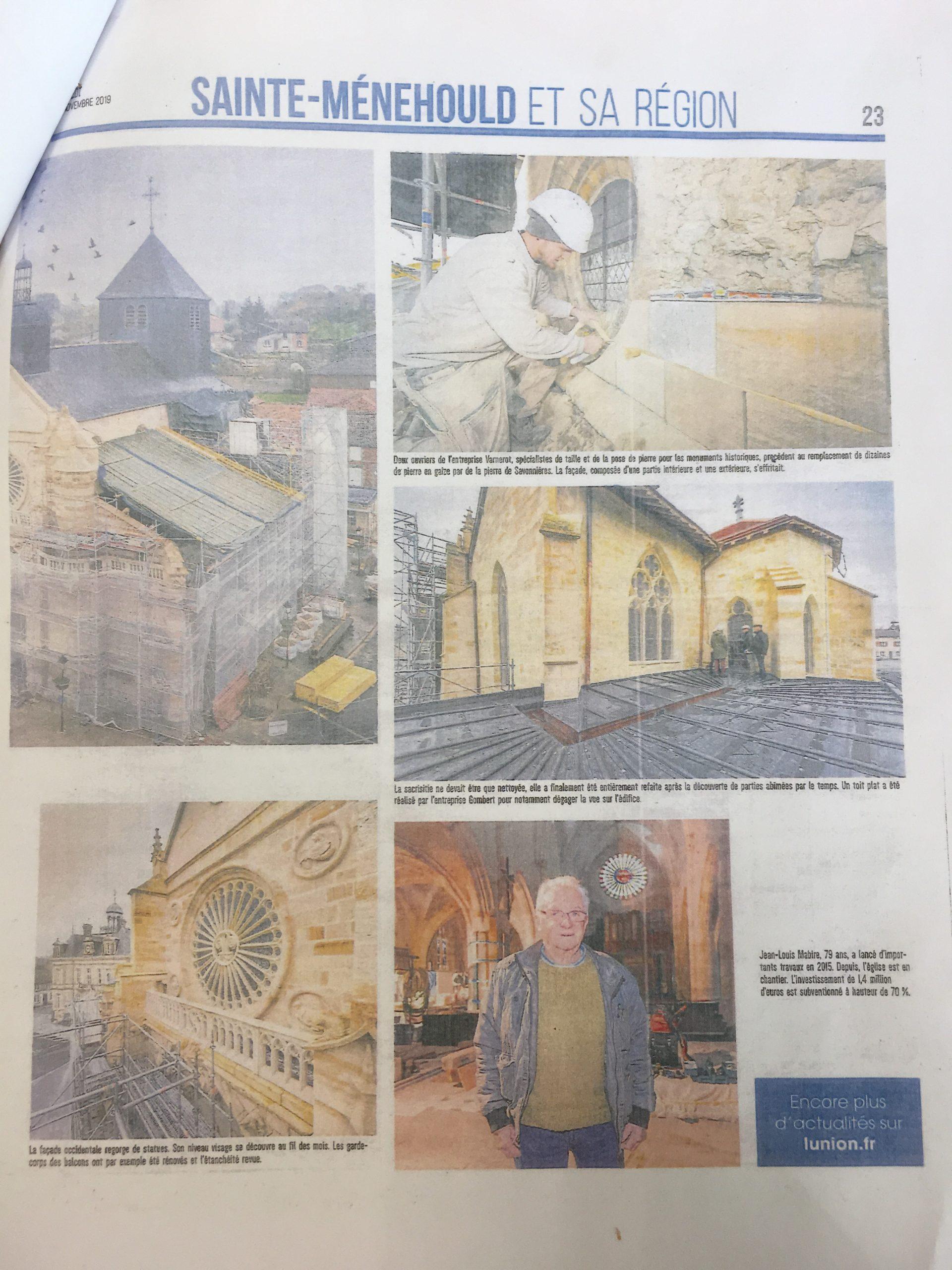 Rénovation de l'église de La Neuville-au-Pont (suite)